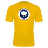 Syntrel Performance Gold Tee-Marching Storm Cloud Circle