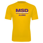 Syntrel Performance Gold Tee-MSD Alumni