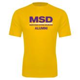 Performance Gold Tee-MSD Alumni