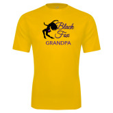 Syntrel Performance Gold Tee-Black Fox Grandpa