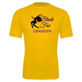 Performance Gold Tee-Black Fox Grandpa
