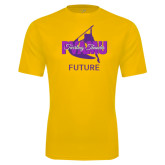Performance Gold Tee-Future Twirling Thunder