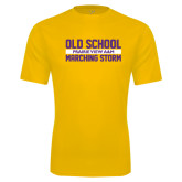 Performance Gold Tee-Old School Marching Storm Stacked