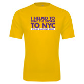 Performance Gold Tee-The Storm To NYC Stacked