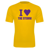 Syntrel Performance Gold Tee-I Heart The Storm