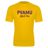 Syntrel Performance Gold Tee-PVAMU Black Fox Script