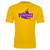 Performance Gold Tee-PVAMU Twirling Thunder Logo