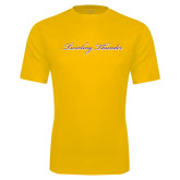 Syntrel Performance Gold Tee-PVAMU Twirling Thunder Logo