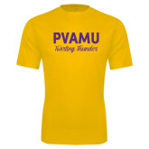 Syntrel Performance Gold Tee-PVAMU Twirling Thunder Script
