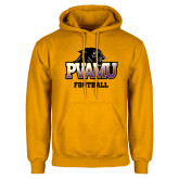 Gold Fleece Hood-Football