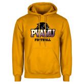 Gold Fleece Hood-Football