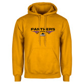 Gold Fleece Hood-Football Design