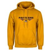 Gold Fleece Hood-Football Design