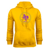 Gold Fleece Hoodie-PVAM Marching Band Seal