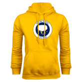 Gold Fleece Hoodie-Marching Storm Cloud Circle