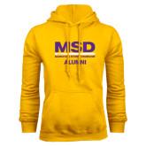 Gold Fleece Hoodie-MSD Alumni