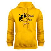 Gold Fleece Hoodie-Black Fox Dad