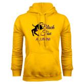 Gold Fleece Hoodie-Black Fox Alumni