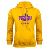 Gold Fleece Hoodie-Twirling Thunder Alumni