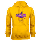 Gold Fleece Hoodie-Twirling Thunder Dad
