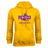 Gold Fleece Hoodie-Twirling Thunder Grandpa
