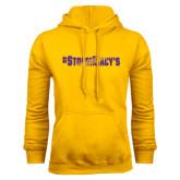 Gold Fleece Hood-#StormMacys