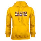 Gold Fleece Hoodie-Old School Marching Storm Stacked