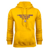 Gold Fleece Hoodie-The Storm To NYC w/ Cloud