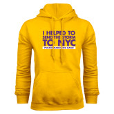 Gold Fleece Hoodie-The Storm To NYC Stacked