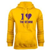 Gold Fleece Hoodie-I Heart The Storm