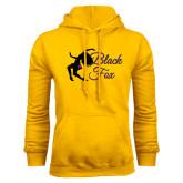 Gold Fleece Hoodie-Black Fox Logo
