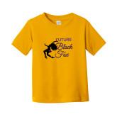 Toddler Gold T Shirt-Future Black Fox