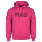 Fuchsia Fleece Hoodie-PVAMU Hot Pink Glitter