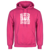 Fuchsia Fleece Hoodie-Praire View marching Storm w/ Majors