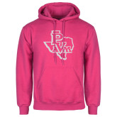 Fuchsia Fleece Hoodie-PVAM Texas White Soft Glitter