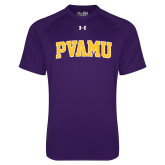Under Armour Purple Tech Tee-Arched PVAMU