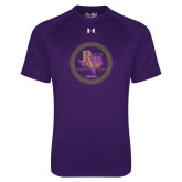 Under Armour Purple Tech Tee-PVAM Marching Band Seal