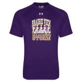 Under Armour Purple Tech Tee-Praire View marching Storm w/ Majors
