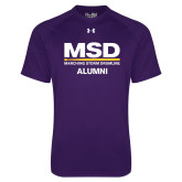 Under Armour Purple Tech Tee-MSD Alumni