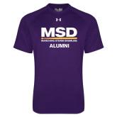 Under Armour Purple Tech Tee-MSD Alumni