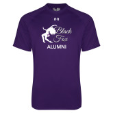 Under Armour Purple Tech Tee-Black Fox Alumni