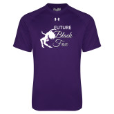 Under Armour Purple Tech Tee-Future Black Fox