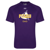 Under Armour Purple Tech Tee-Twirling Thunder Dad