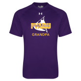 Under Armour Purple Tech Tee-Twirling Thunder Grandpa