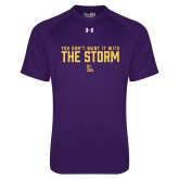 Under Armour Purple Tech Tee-You Dont Want It With The Storm