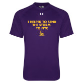 Under Armour Purple Tech Tee-The Storm To NYC w/ Cloud