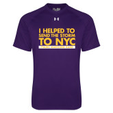 Under Armour Purple Tech Tee-The Storm To NYC Stacked