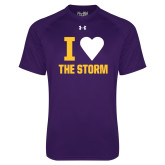 Under Armour Purple Tech Tee-I Heart The Storm
