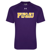 Under Armour Purple Tech Tee-PVAMU Black Fox Overlap