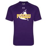 Under Armour Purple Tech Tee-PVAMU Twirling Thunder Logo